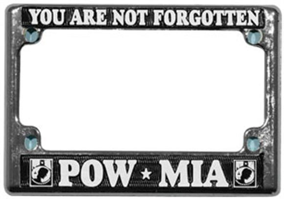 POW Motorcycle License Plate Frame - Metal