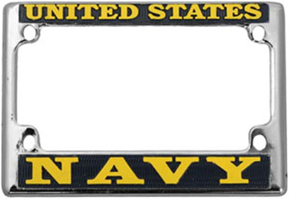 U.S. Navy Motorcycle License Plate Frame - Metal