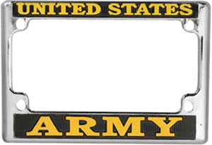 U.S. ARMY Motorcycle License Plate Frame - Metal