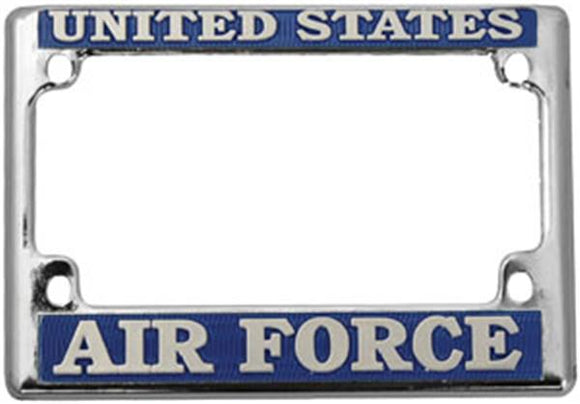 U.S. Air Force Motorcycle License Plate Frame - Metal
