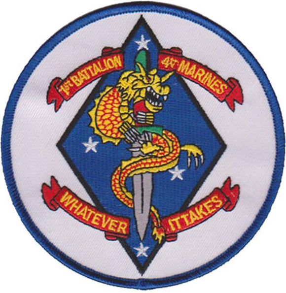 1st Battalion 4th Marines USMC Patch