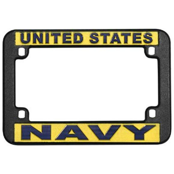 UNITED STATES NAVY Motorcycle License Plate Frame - PLASTIC