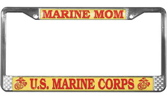 MARINE MOM License Plate Frame
