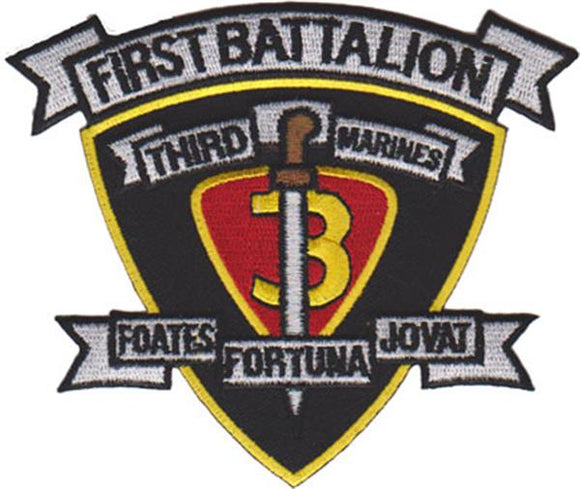 1st Battalion 3rd Marines USMC Patch