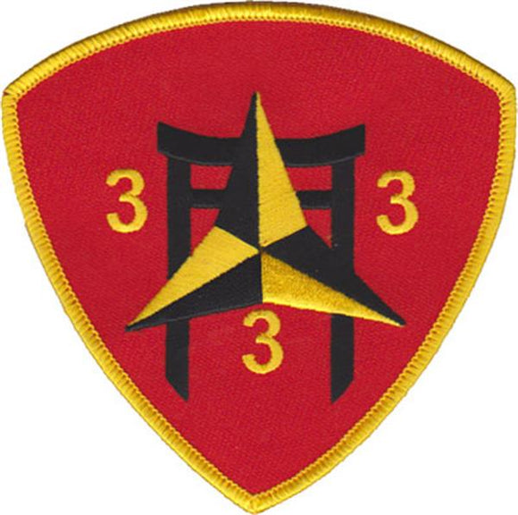 3rd Battalion 3rd Marines USMC Patch