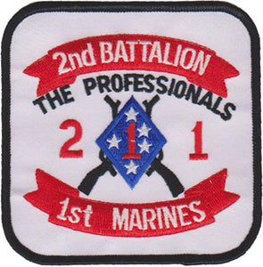 2nd Battalion 1st Marines USMC Patch