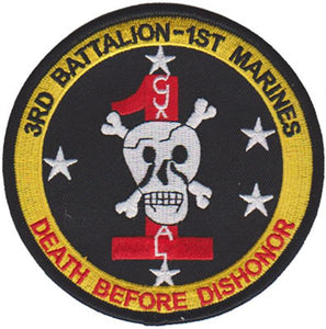 3rd Battalion 1st Marines USMC Patch