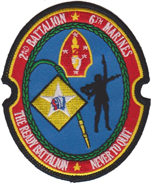 2nd Battalion 6th Marines USMC Patch
