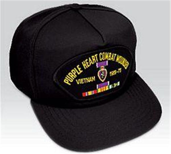 Purple Heart Combat Wounded Vietnam - Low Profile Ball Cap