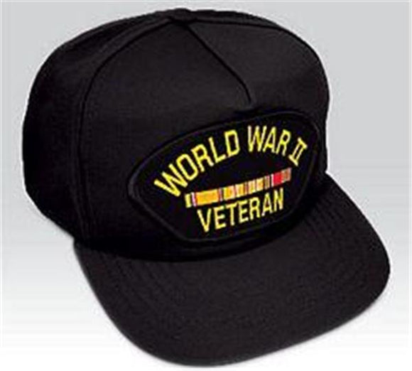 World War II Europe Veteran Black Ball Cap