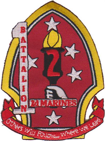 1st Battalion 2nd Marines USMC Patch