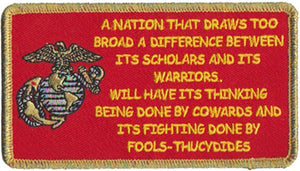 A Nation by Thuchdides USMC Patch