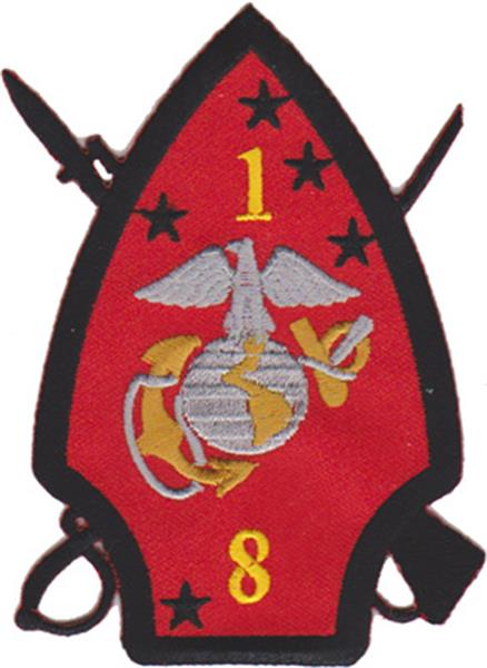 1st Battalion 8th Marines USMC Patch