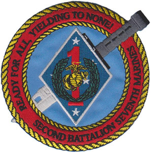 2nd Battalion 7th Marines USMC Patch