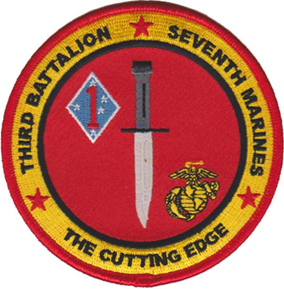3rd Battalion 7th Marines USMC Patch