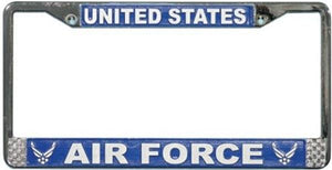 United States Air Force Wing Logo License Plate Frame - Metal