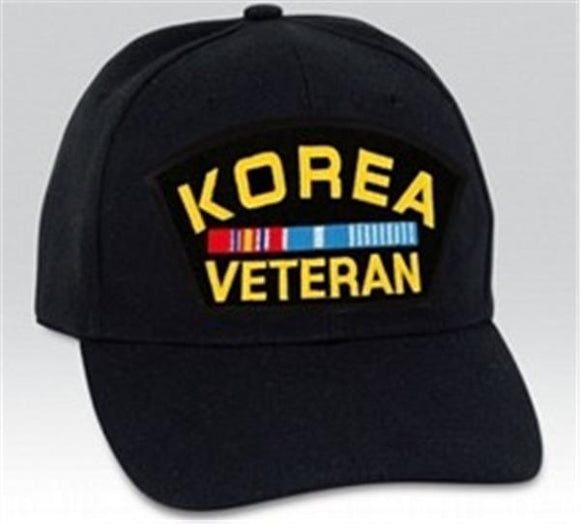 Korea Veteran with Ribbons Low Profile Ball Cap