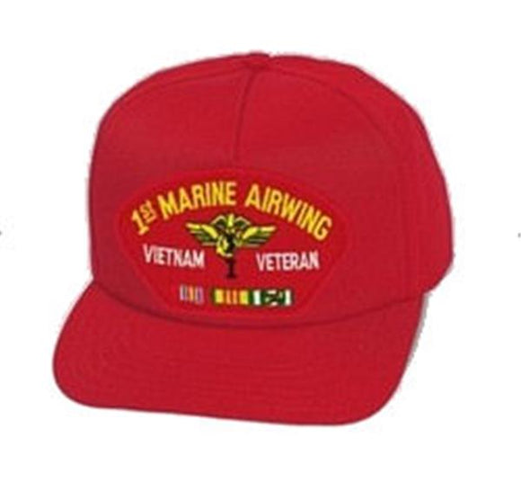 1st Marine Airwing Vietnam Veteran Ball Cap - RED