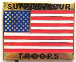 Support Our Troops Hat Pin