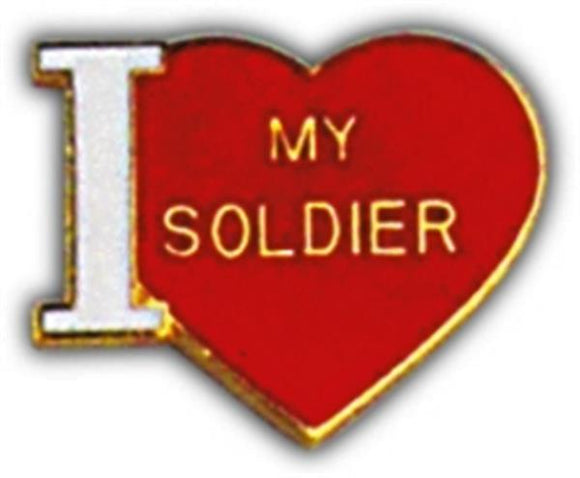 I Love My Soldier Small Hat Pin