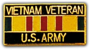 VN Vet U.S. Army Small Hat Pin