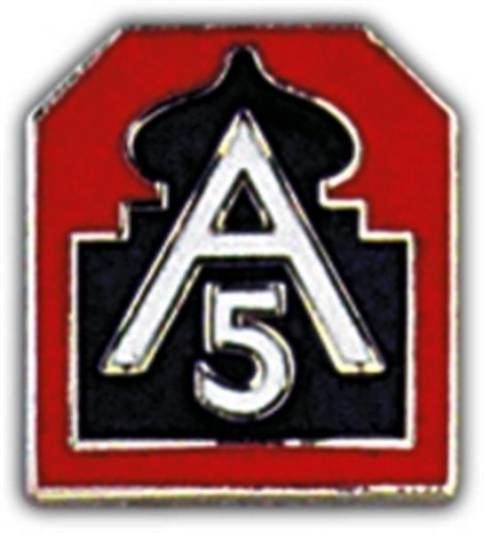 US Army North (5th Army) Small Hat Pin