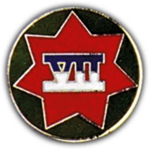 7th Corps Small Hat Pin