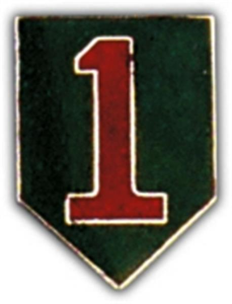 1st Infantry Division Small Hat Pin