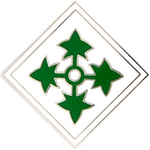 4th Division Small Hat Pin