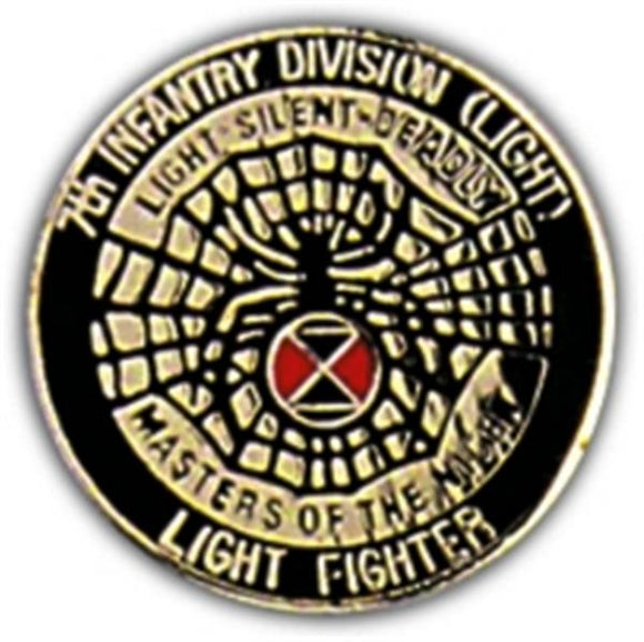 7th Light Infantry Small Hat Pin