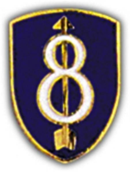 8th Division Small Hat Pin
