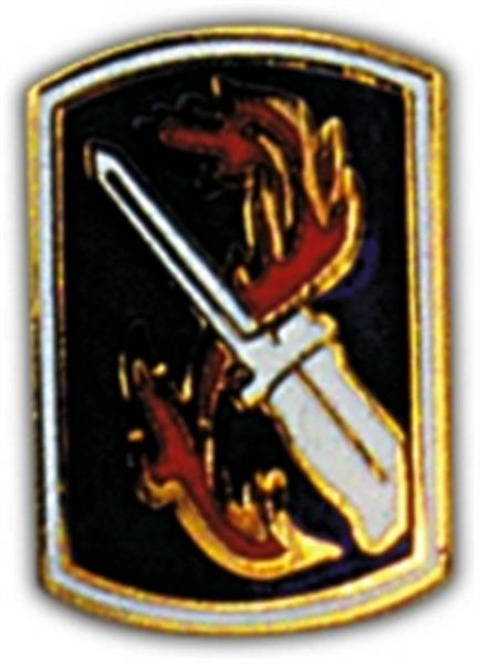 198th Infantry Brigade Small Hat Pin