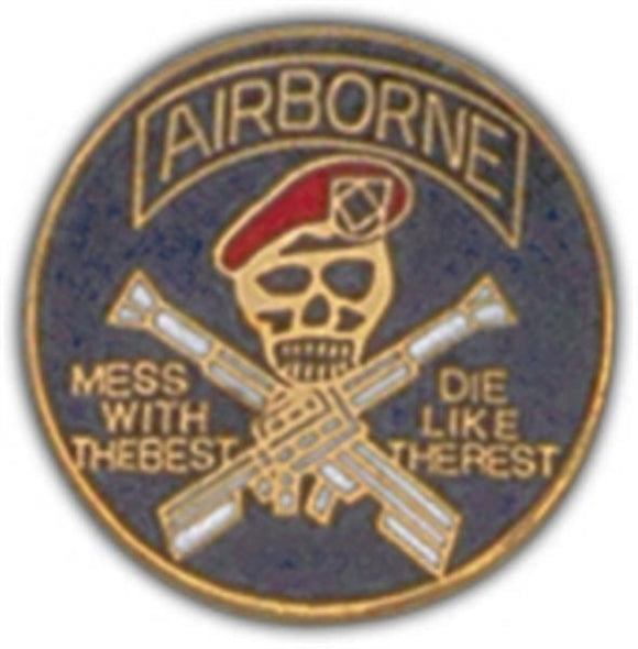 Airborne Small Hat Pin