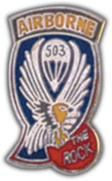 503rd A-B Infantry RGT Small Hat Pin