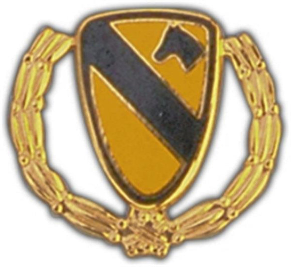 1st Cavalry Wreath Small Hat Pin