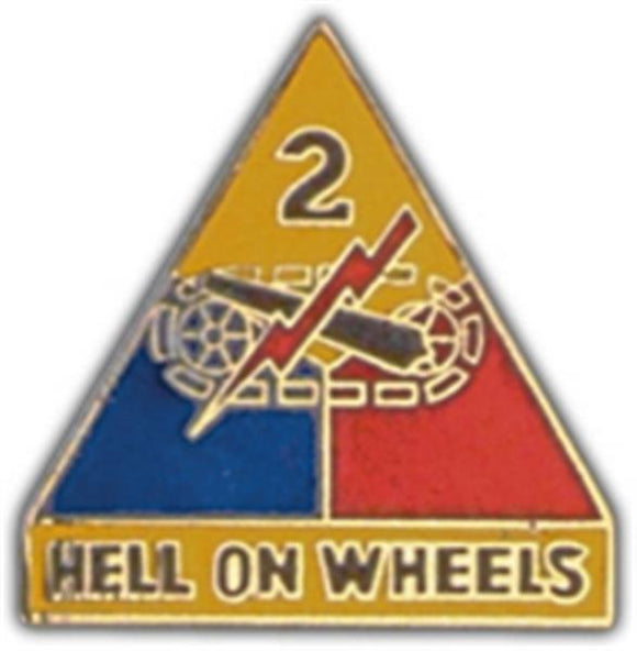 2nd Armored Division Small Hat Pin