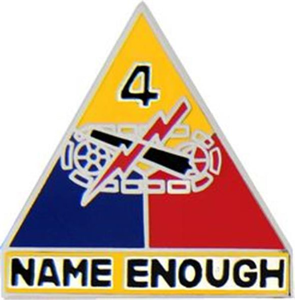 4th Armored Division Small Hat Pin