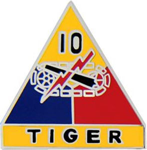 10th Armored Division Small Hat Pin