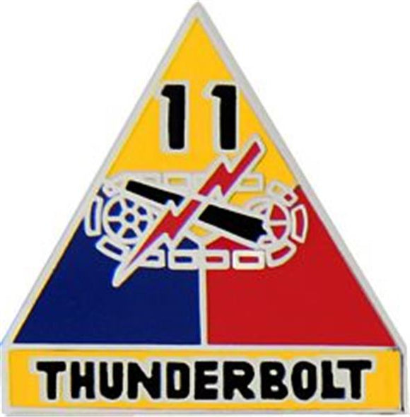 11th Armored Division Small Hat Pin