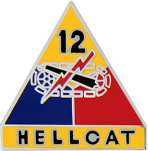 12th Armored Division Small Hat Pin