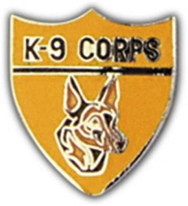 K9 Corps Small Hat Pin