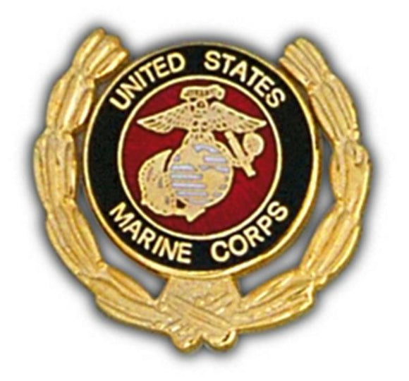 USMC Wreath Small Hat Pin