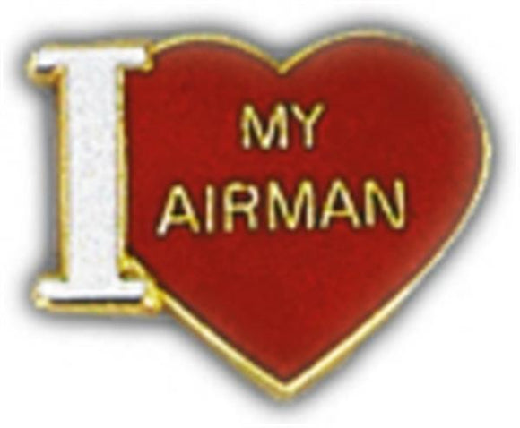 I Love My Airman Small Pin