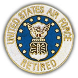 USAF Retired Small Pin
