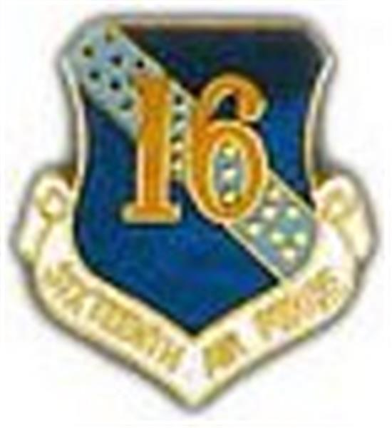 16th Air Force Small Pin