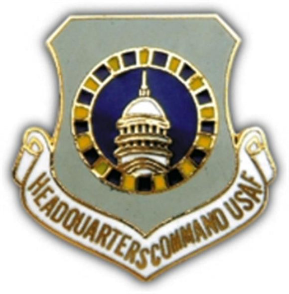 Headquarters Command USAF Small Pin