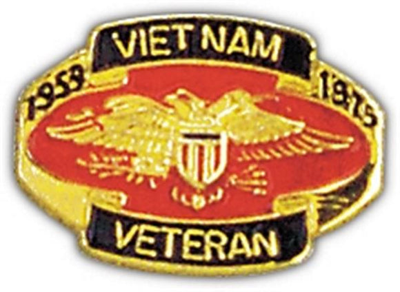 Vietnam Veteran 1959-1975 Small Pin
