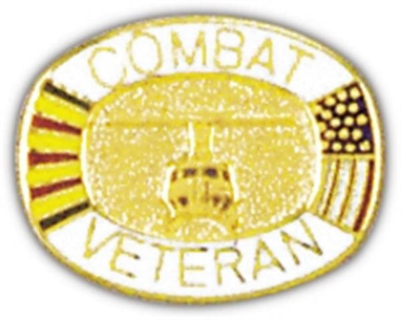 Combat Veteran Small Pin