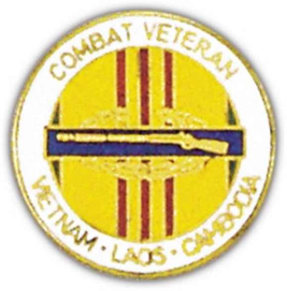 CIB Combat Veteran Small Pin