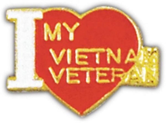 I Love My Vietnam Vet Small Pin